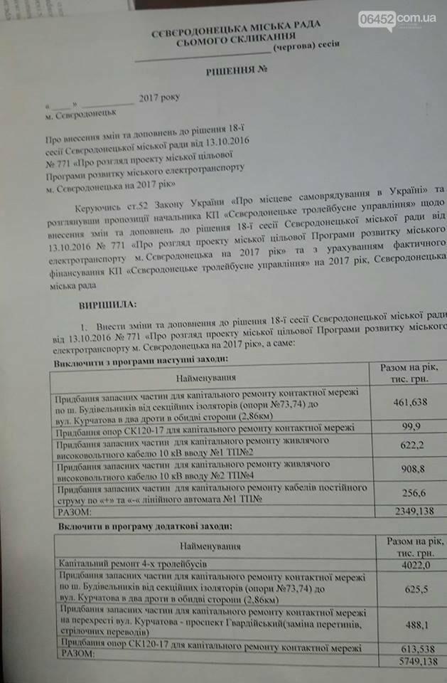 Соратники Буткова отказались поддержать развитие электротранспорта в Северодонецке, фото-1