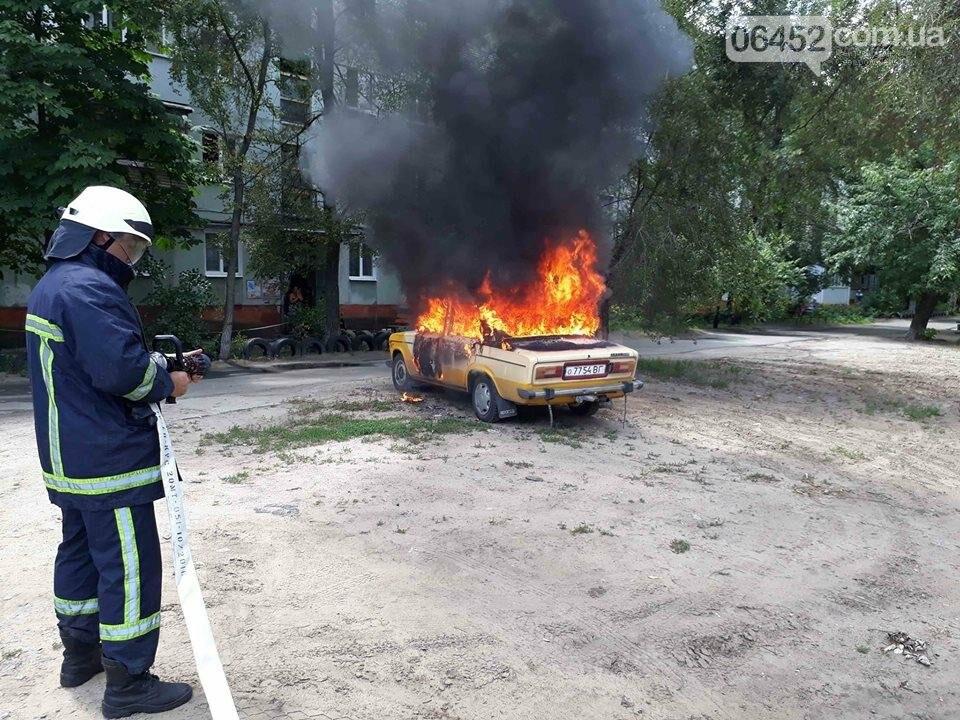 В Северодонецке горела легковушка, фото-1