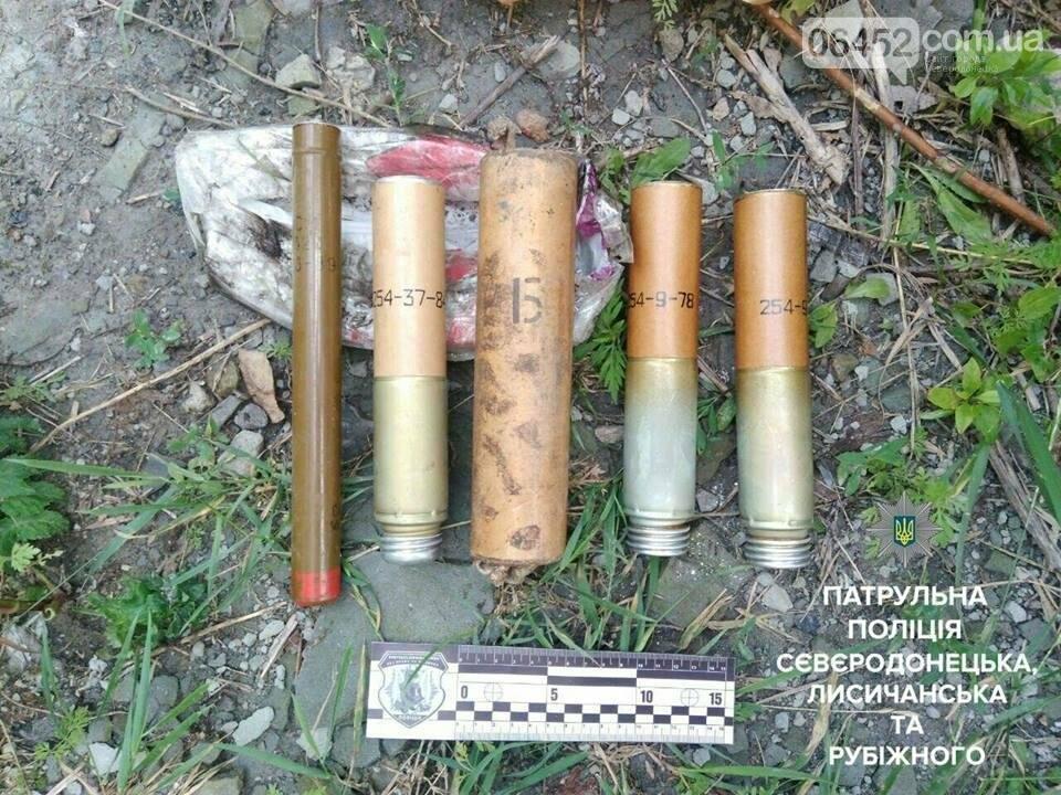 В Лисичанске  полицейские обнаружили взрывные предметы , фото-1