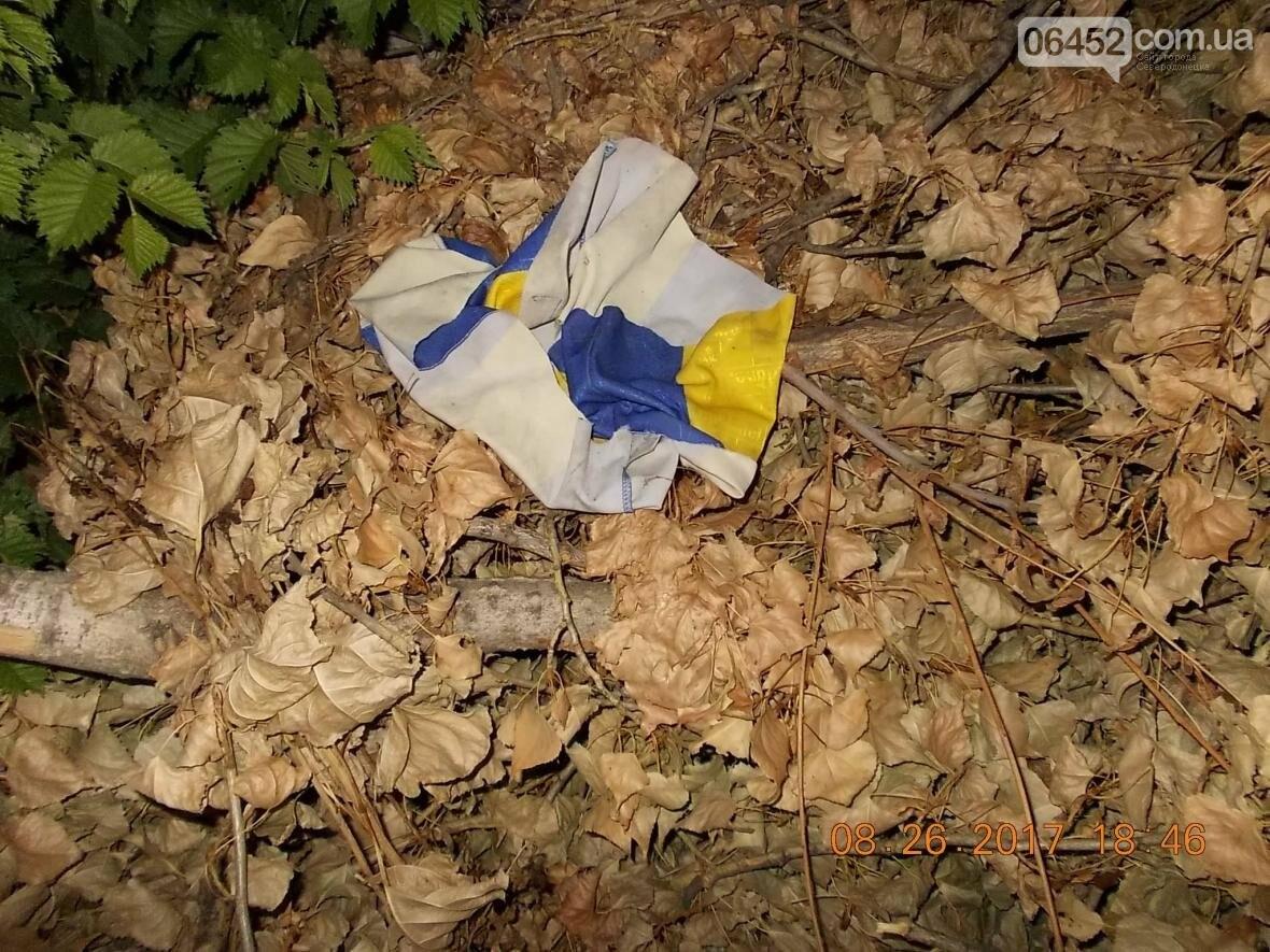 В Северодонецке на свалке нашли флаг Украины (фото), фото-1