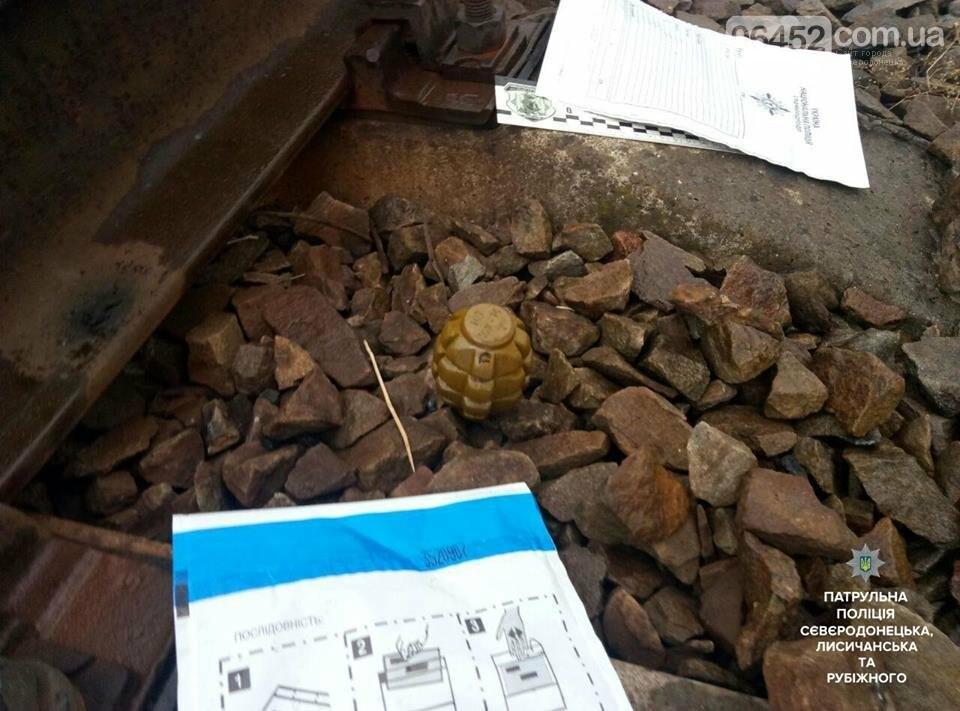 В Рубежном на железнодорожном полотне обнаружили боеприпас, фото-1