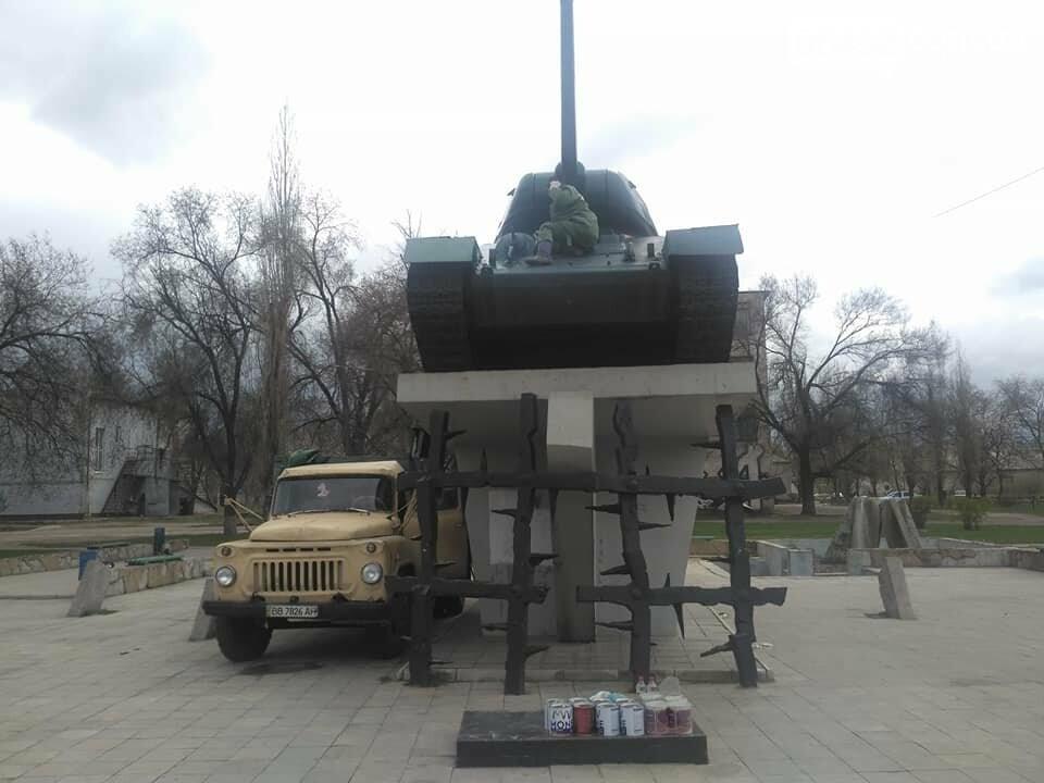 В Северодонецке обновляют танк Т-34 (фото), фото-1