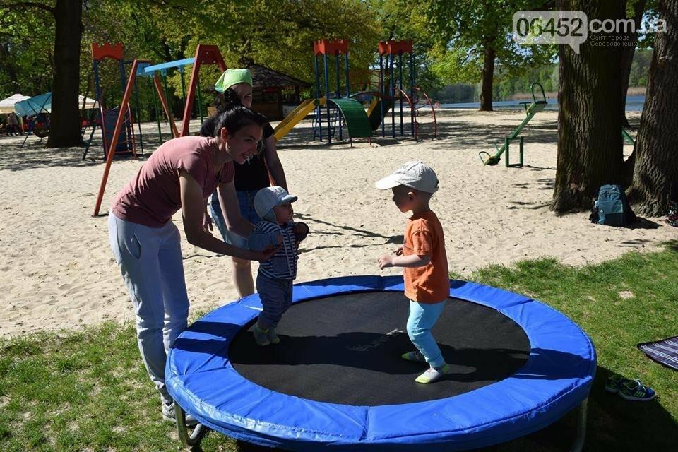 В Рубежном состоялось открытие рекреационной зоны на берегу озера Песочное, фото-3
