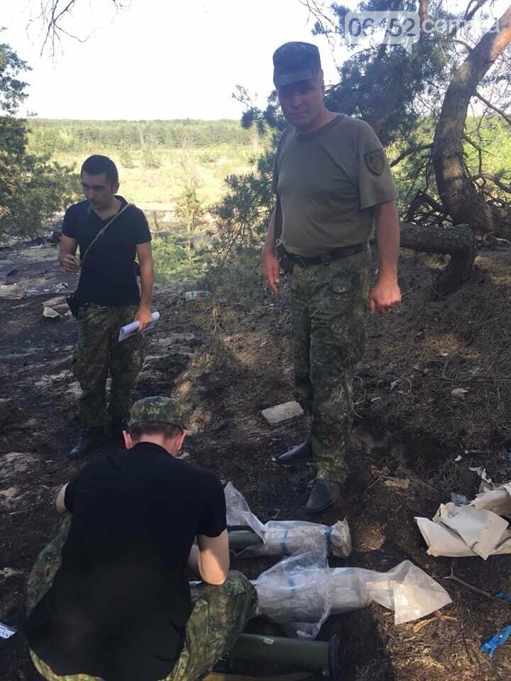 В районе возгорания леса под Северодонецком нашли три РПГ-26, фото-2