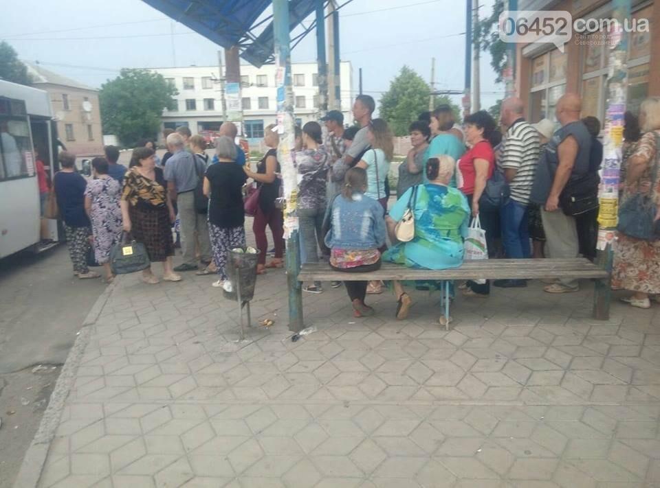 В Лисичанске пассажиров научили становиться в очередь, фото-3