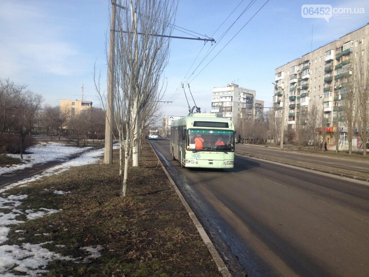 Потеря электрического напряжения: в Северодонецке стояли троллейбусы, фото-4