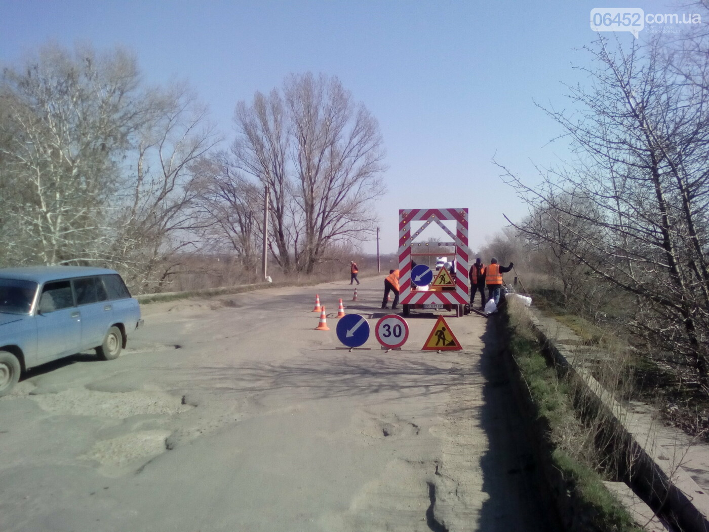 Между Северодонецком и Лисичанском «латают» мост, фото-7