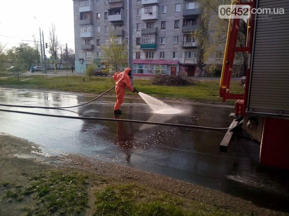 В Северодонецке дезинфицируют улицы, фото-1