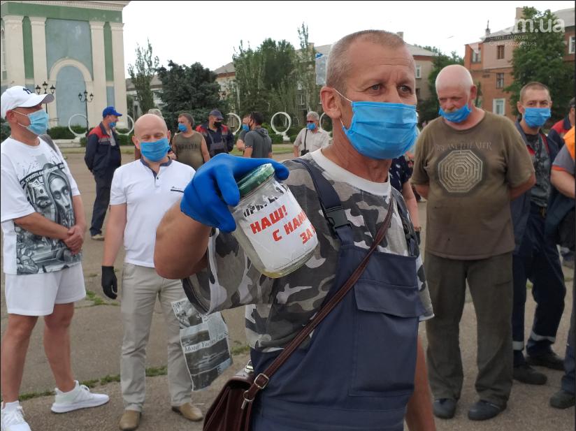 В Северодонецке коллектив Аварийной службы устроил собрание у стен исполкома, фото-6