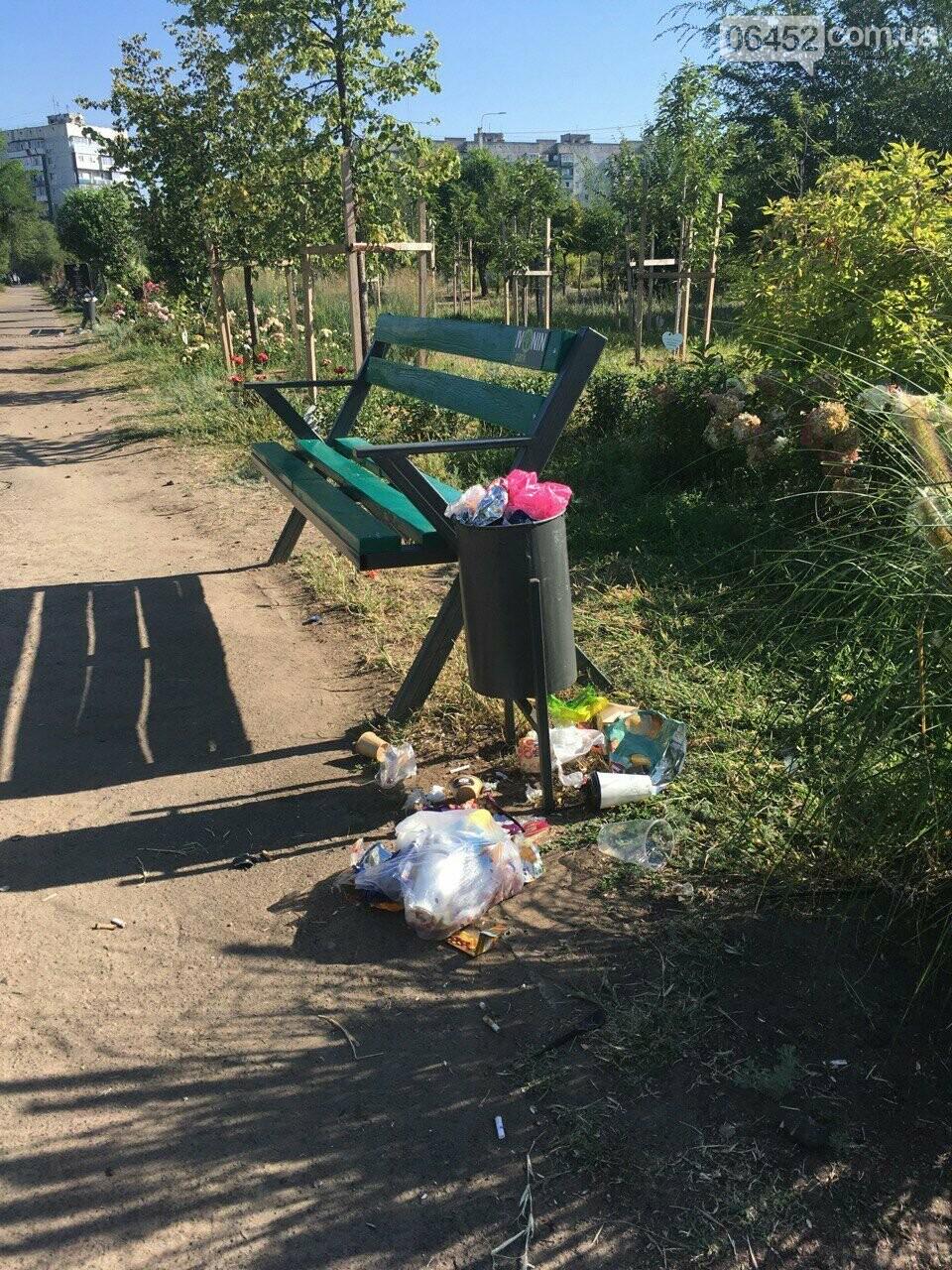 """Следы"" Независимости: Центр Северодонецка завален мусором (фото) , фото-3"