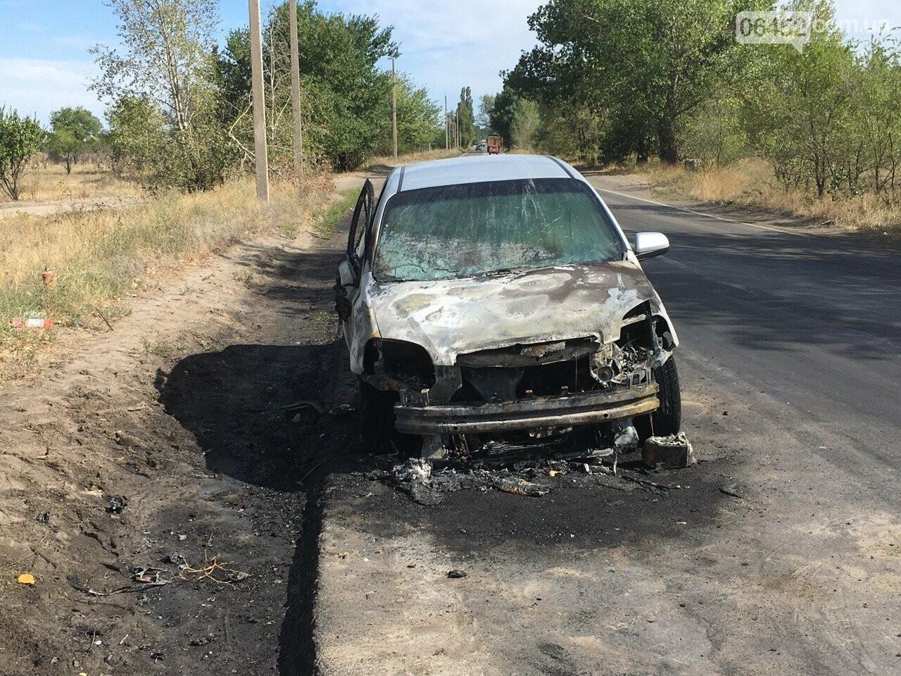 Под Северодонецком во время движения загорелся автомобиль (фото) , фото-1