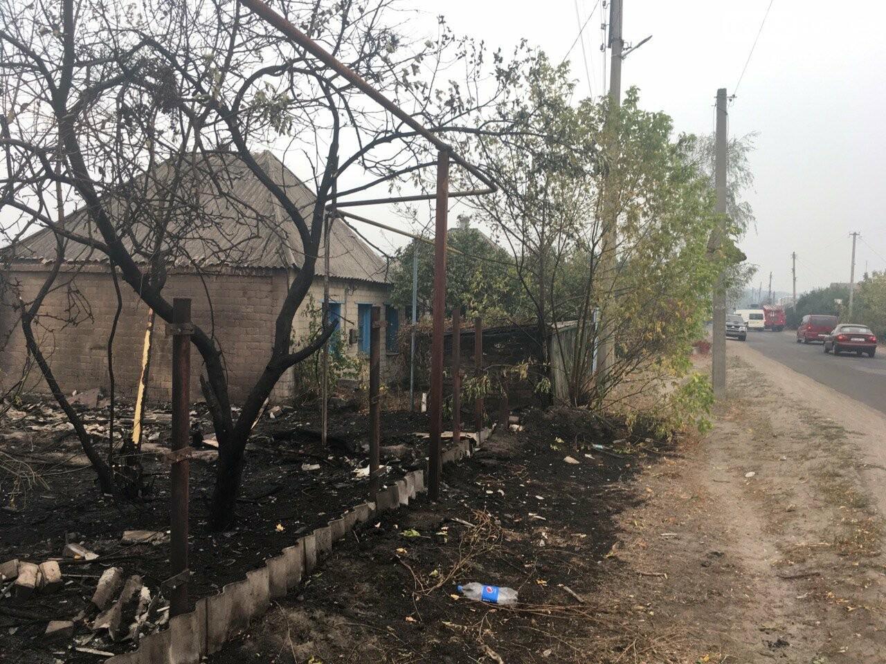 К тушению пожаров под Северодонецком подключена авиация (фото, видео), фото-5