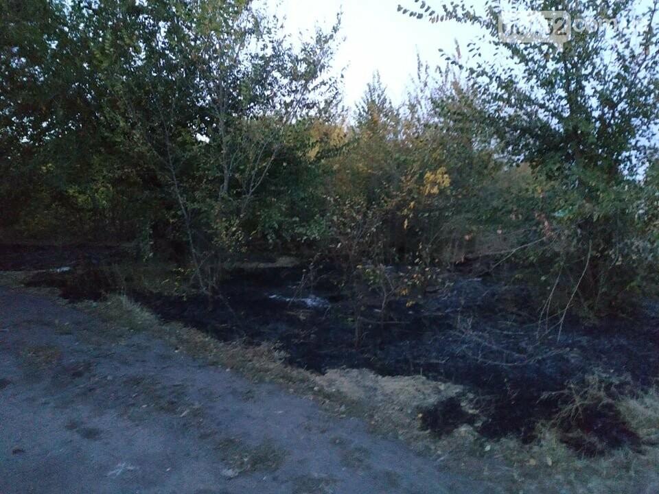 На Луганщине вблизи метановой заправки горела стихийная свалка (фото), фото-2