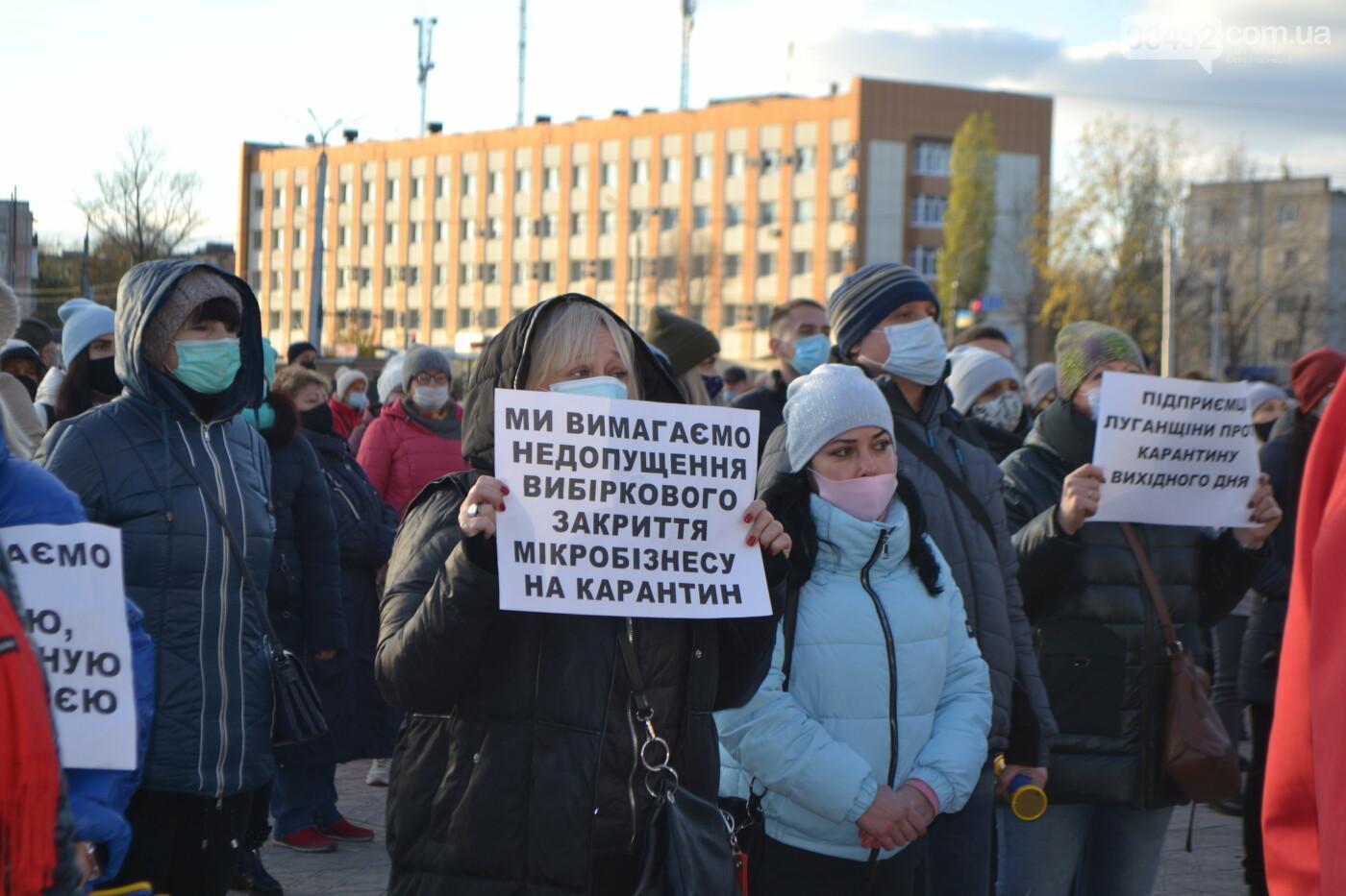 """Предприниматели Луганщины вышли на митинг против """"карантина выходного дня"""" (фото, видео), фото-30"""