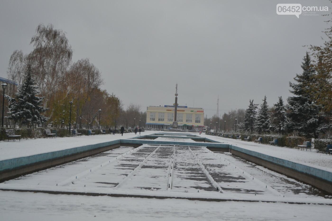 В Северодонецке выпал первый снег ( фото ) , фото-27