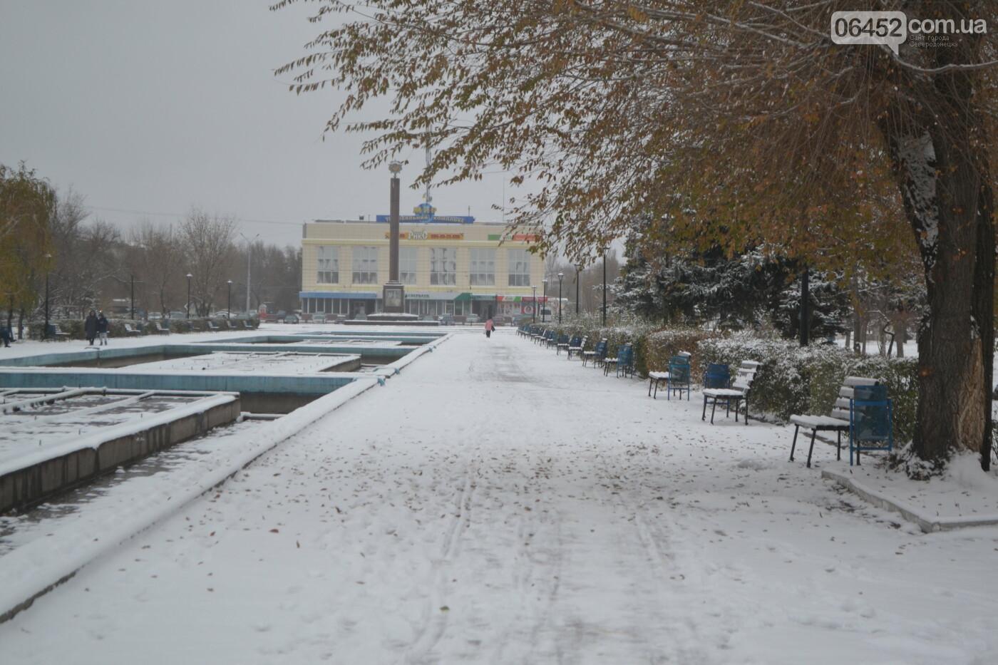 В Северодонецке выпал первый снег ( фото ) , фото-28