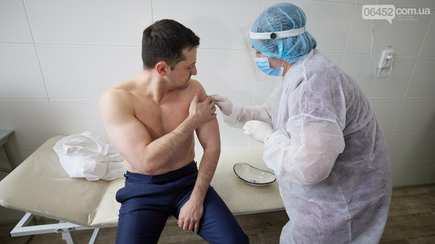 Президент Украины в Северодонецке вакцинировался от коронавируса (фото, видео) , фото-1