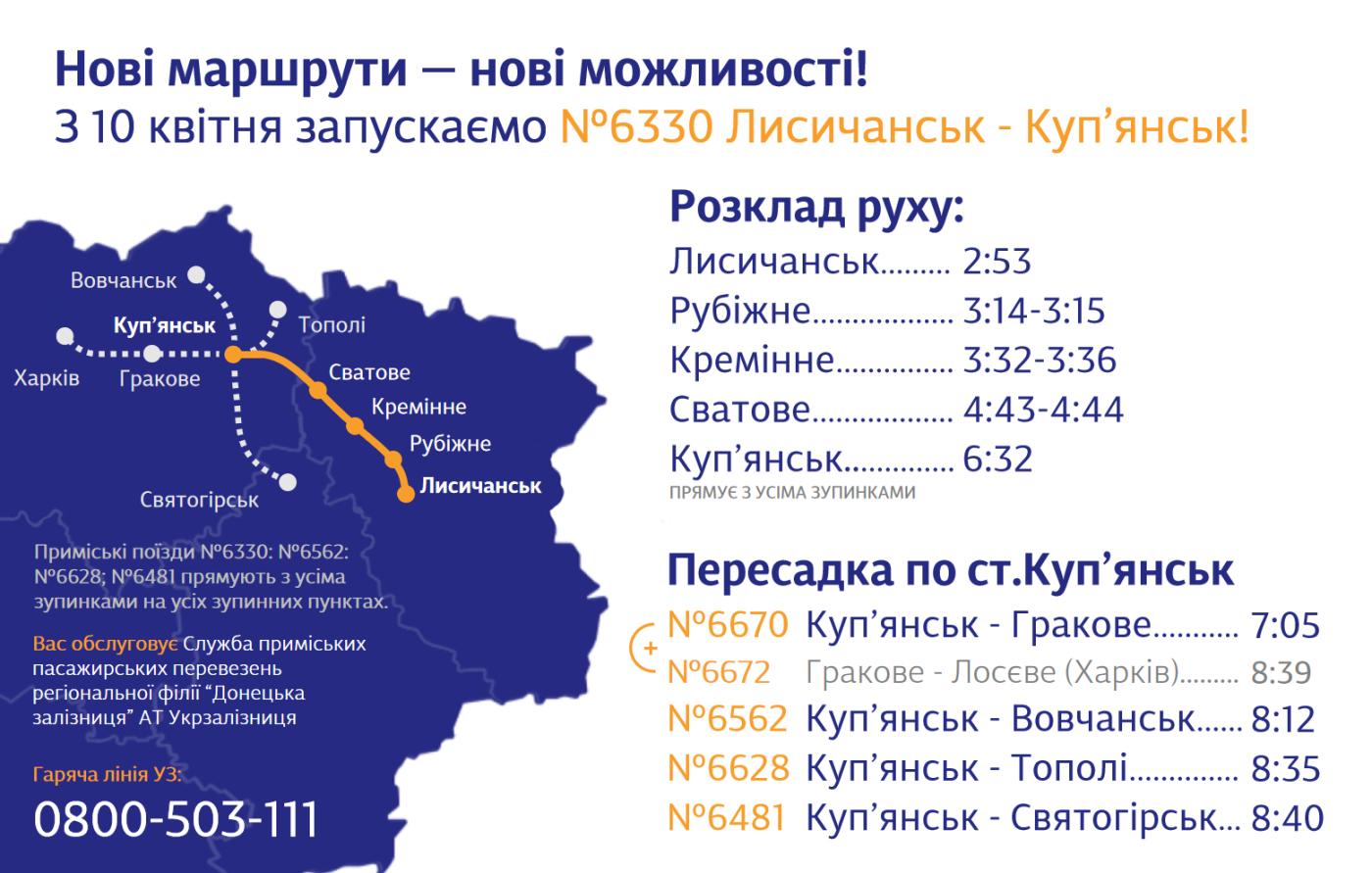 На Луганщине запускают новый пригородный поезд Лисичанск-Купянск, фото-1