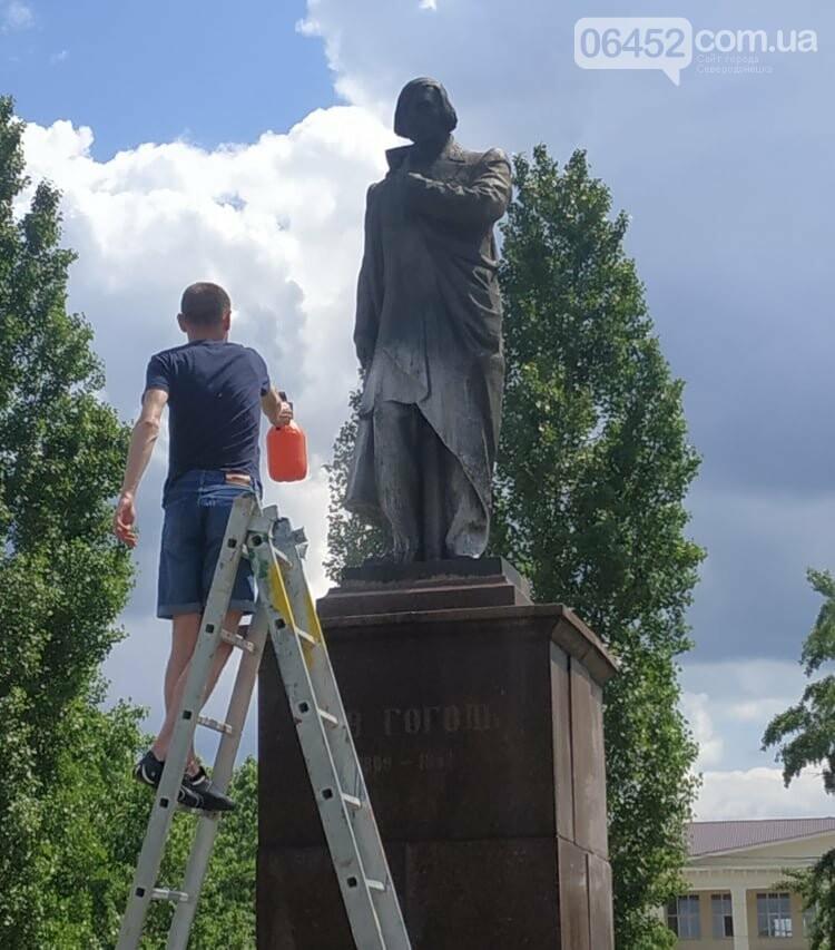 В Северодонецке активисты привели в порядок памятник Николаю Гоголю (фото) , фото-1