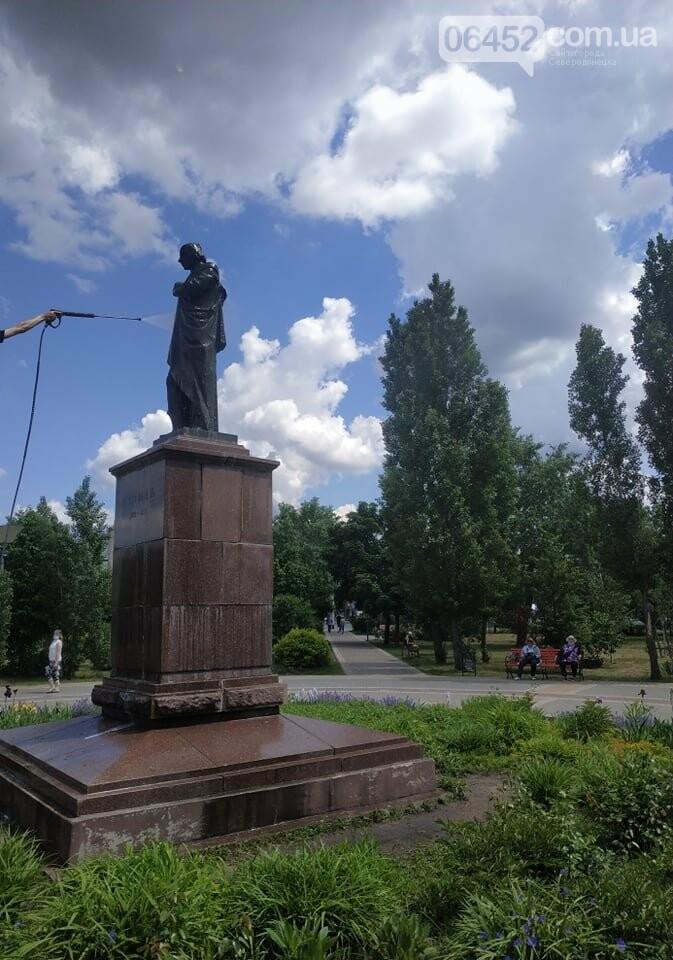 В Северодонецке активисты привели в порядок памятник Николаю Гоголю (фото) , фото-2