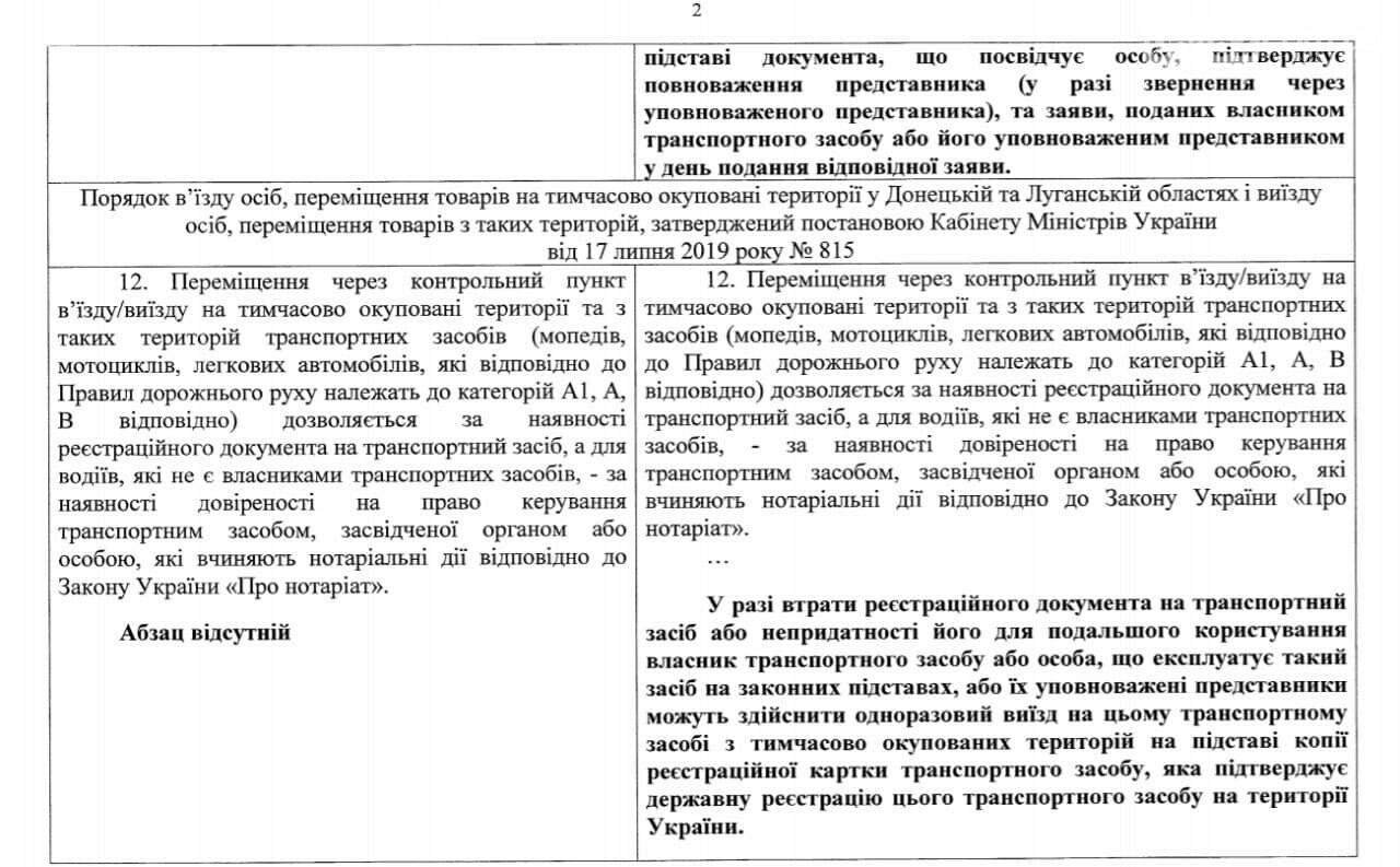Жителям оккупированной Луганщины разрешили пересекать КПВВ на авто без техпаспорта, фото-2