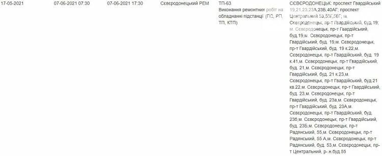 В Северодонецке планируется отключение света , фото-5