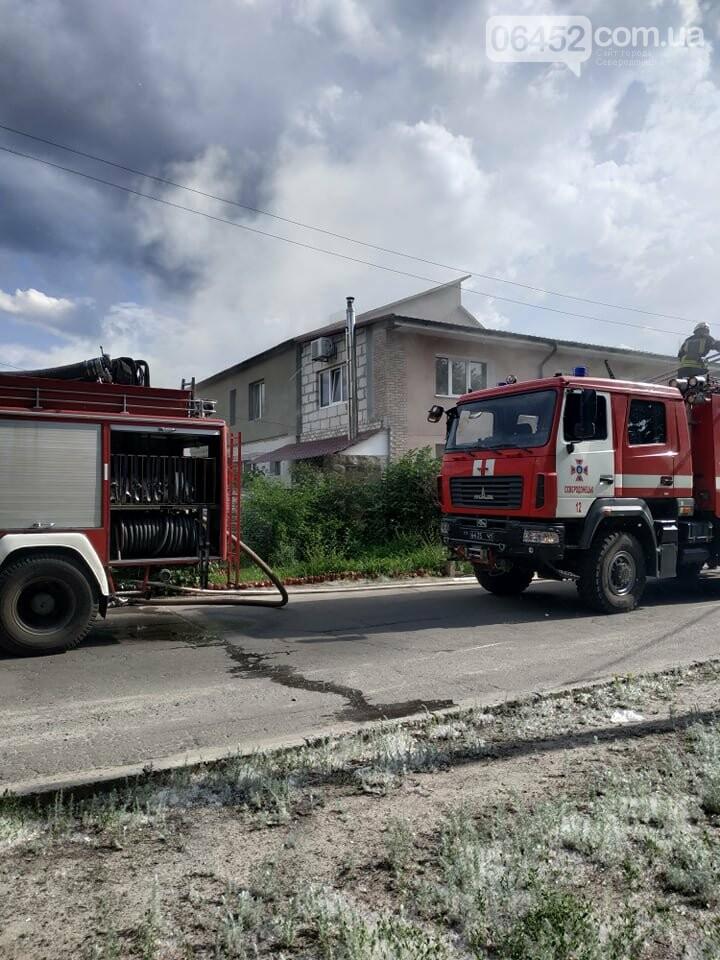 Пожар в Северодонецке: в частном секторе горела хозпостройка (фото) , фото-1