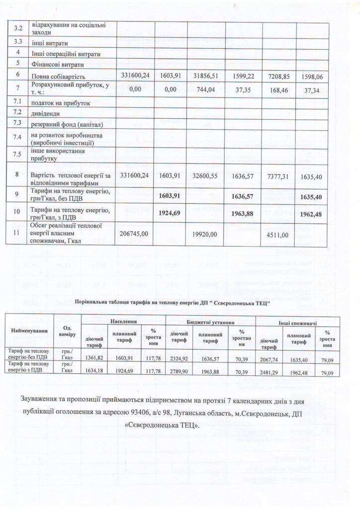 Северодонецкая ТЭЦ анонсировала повышение тарифов на отопление, фото-2