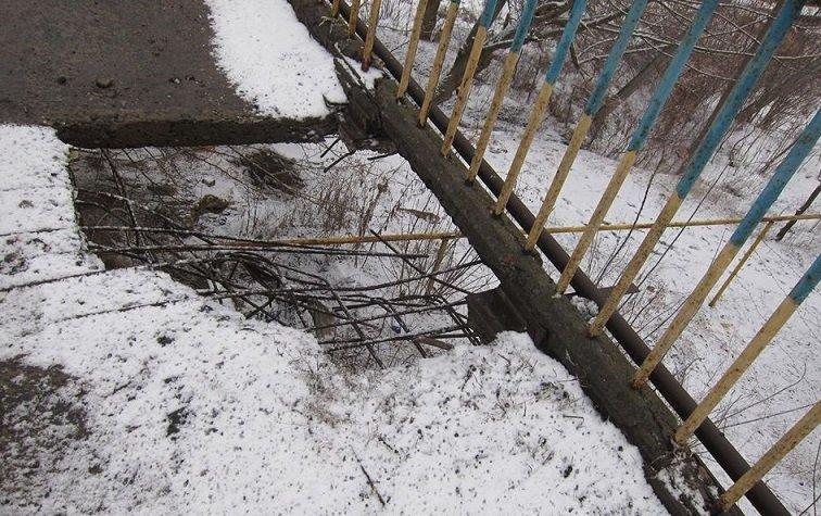 Состояние моста через Северский Донец вызывает у жителей опасение, фото-1