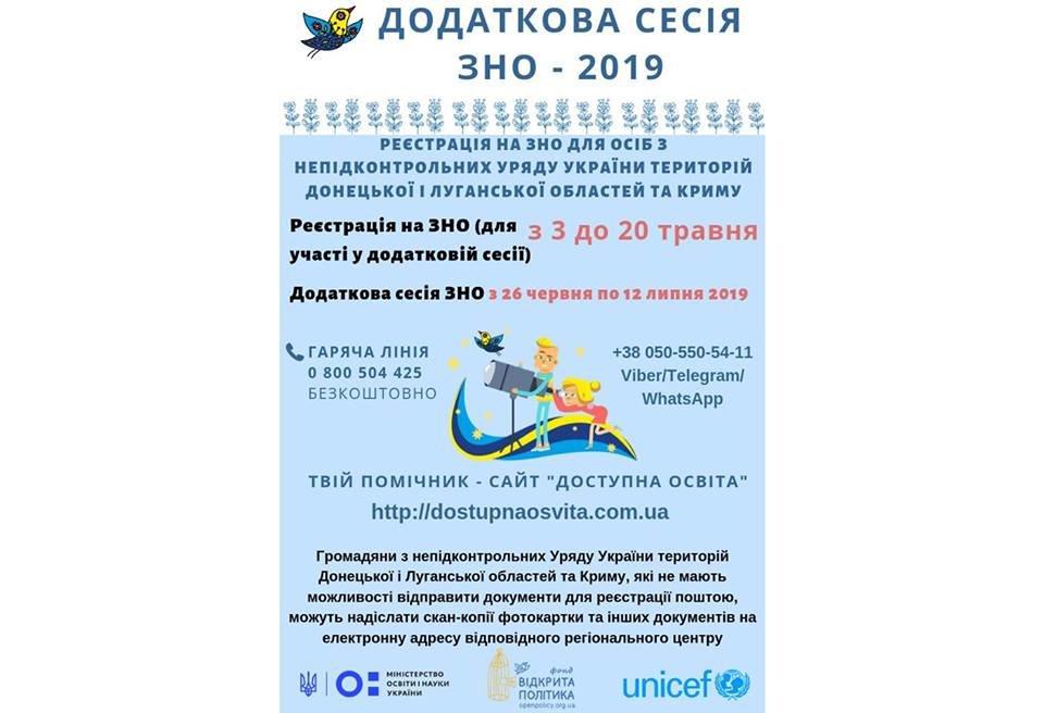 Стартовала регистрация на дополнительную сессию ВНО для лиц с оккупированных территорий, фото-1