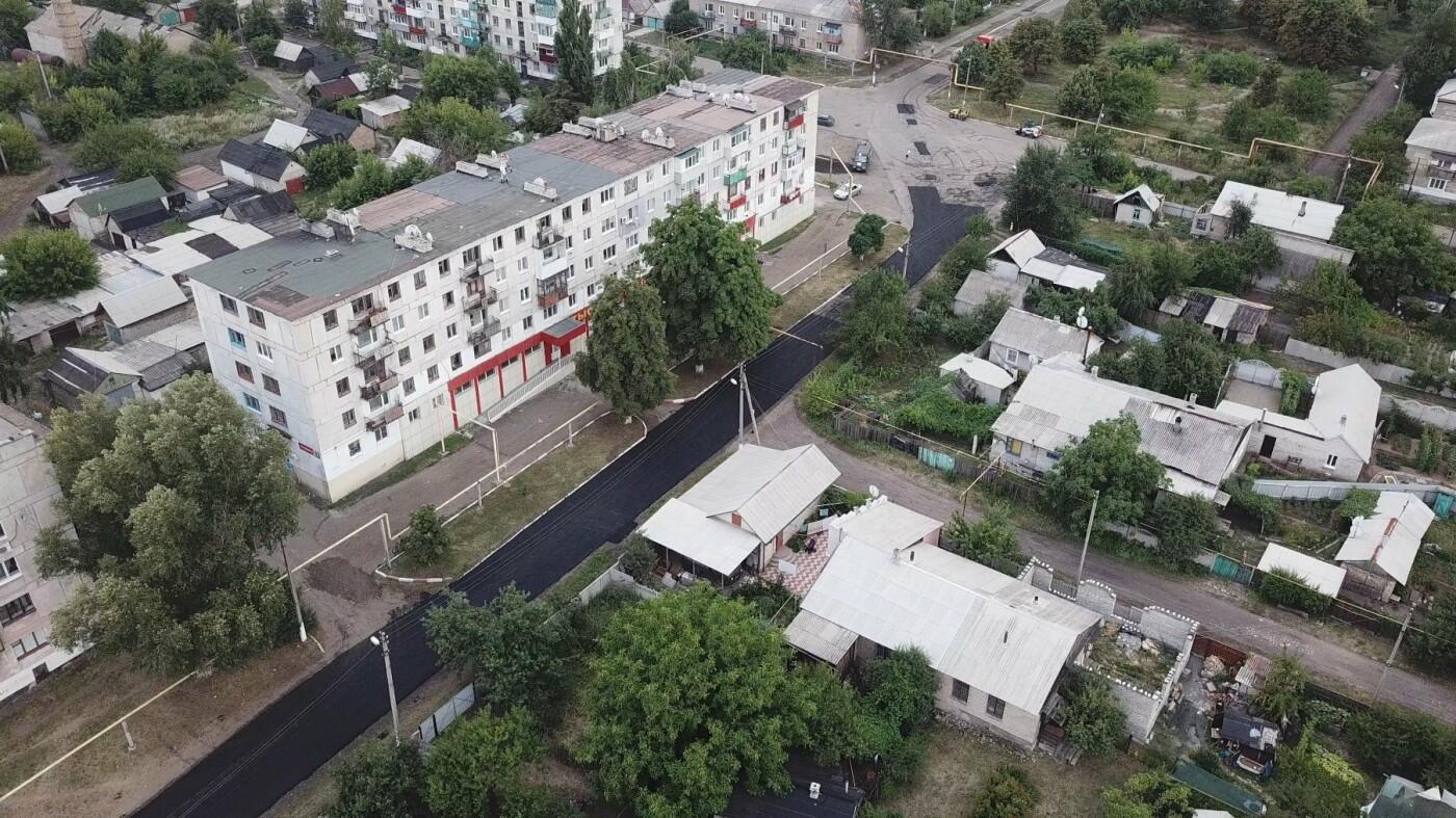 За три недели команда Сергея Рыбалка проложила 32,5  тыс. кв. м. нового асфальта в Лисичанске и окрестных городах, фото-12