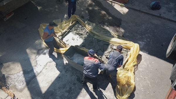 Коммунальщики Северодонецка взялись за ремонт входа в парк, фото-3
