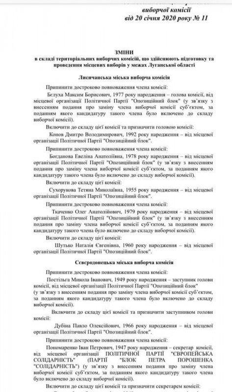 ЦИК убрала из ТИК Северодонецка нескольких депутатов , фото-1