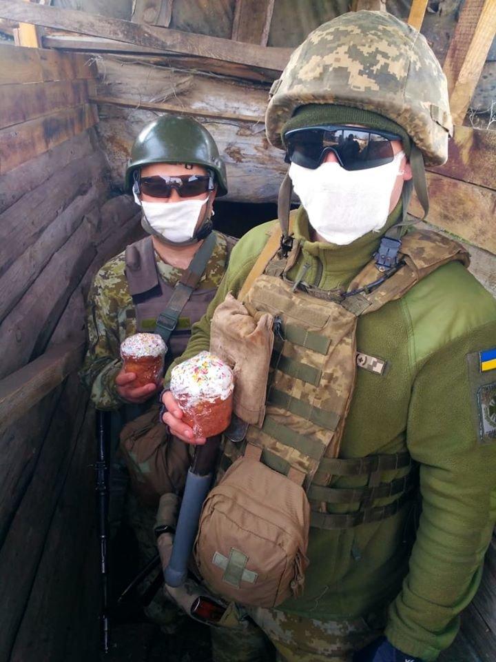 Украинские военные на Донбассе отметили Пасху ( фото), фото-3