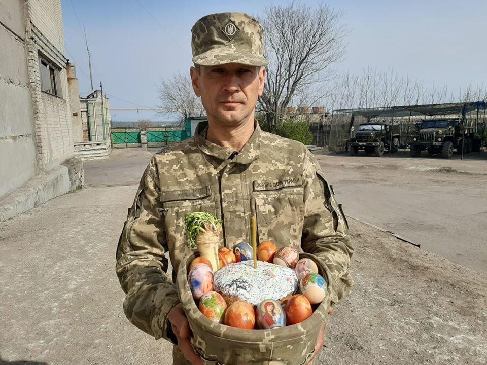 Украинские военные на Донбассе отметили Пасху ( фото), фото-4
