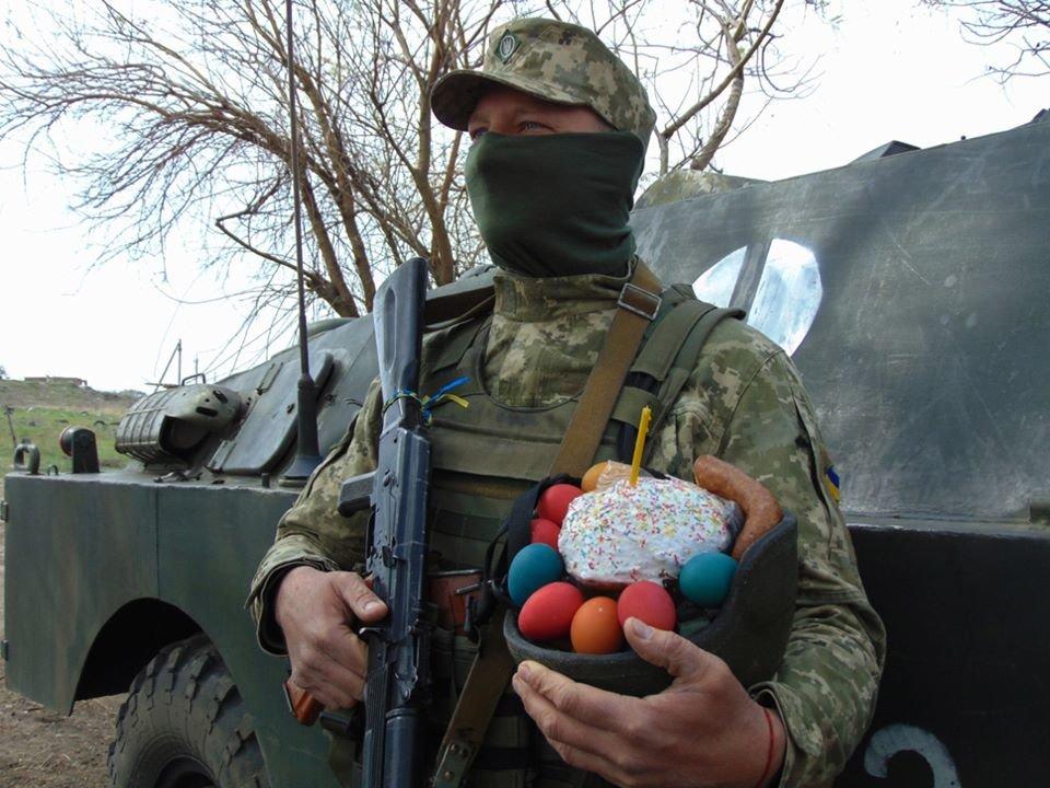 Украинские военные на Донбассе отметили Пасху ( фото), фото-7