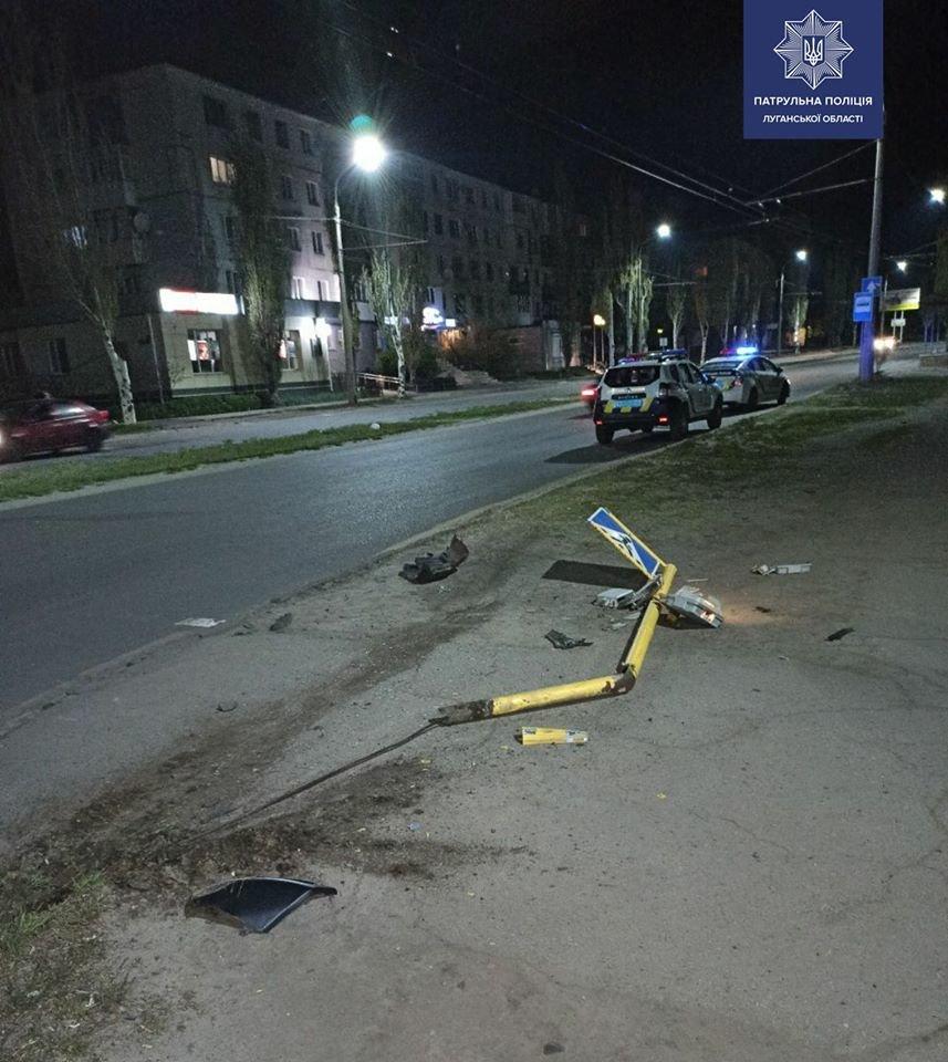В Северодонецке пьяный водитель сбил светофор, фото-1