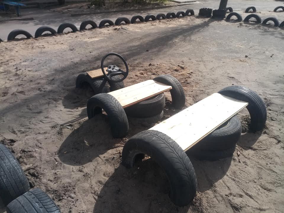 В Северодонецке горожане оборудовали из покрышек детскую площадку (фото), фото-6