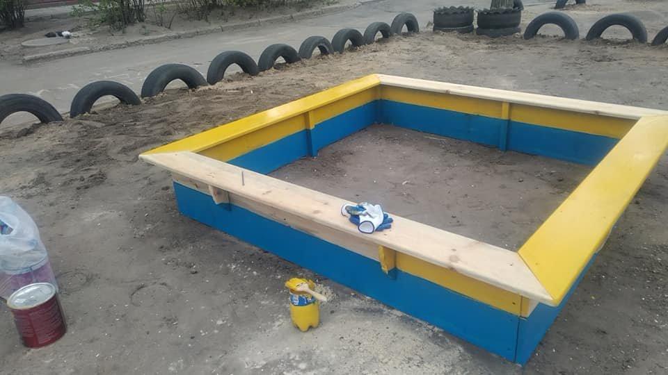 В Северодонецке горожане оборудовали из покрышек детскую площадку (фото), фото-10