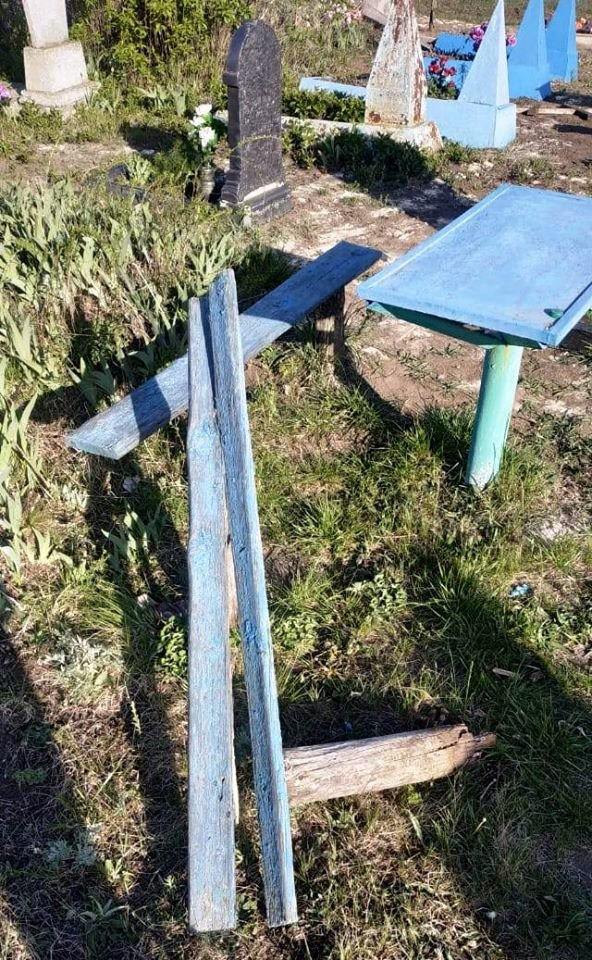 На Луганщине дети надругались над могилами (фото), фото-4
