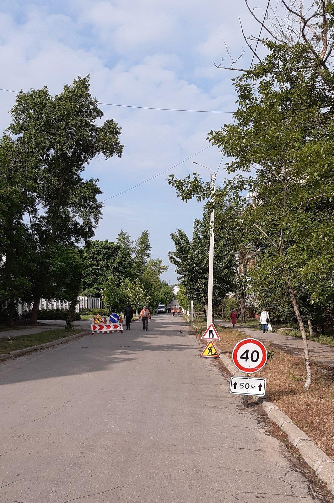 Северодонецкие коммунальщики ремонтируют дорогу около Института водоочистных технологий, фото-1