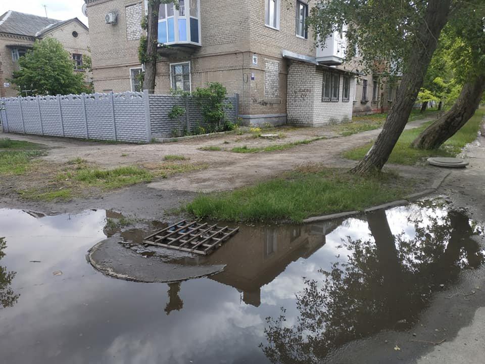 В Северодонецке посреди города образовалось болото (фото), фото-1