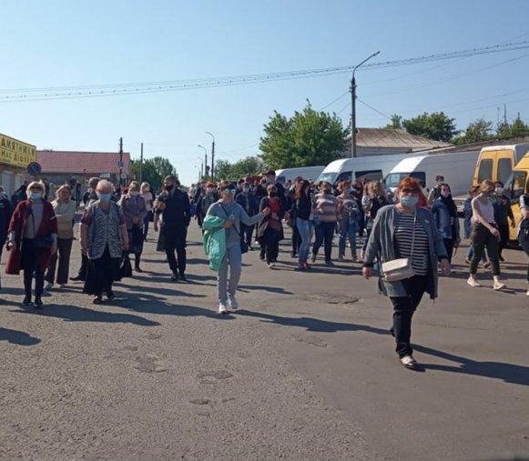 Предприниматели Луганской области вышли на митинги, фото-1