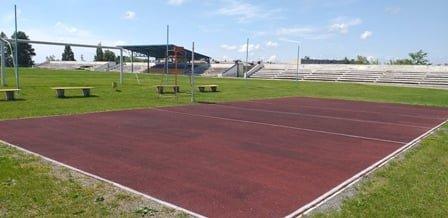 В Луганской области строят футбольную площадку, фото-1