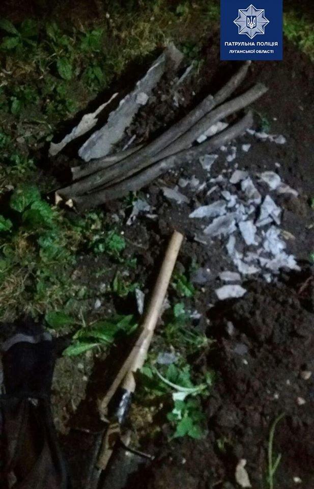 """На Луганщине патрульные задержали 25-летнего """"охотника"""" за цветным металлом, фото-1"""