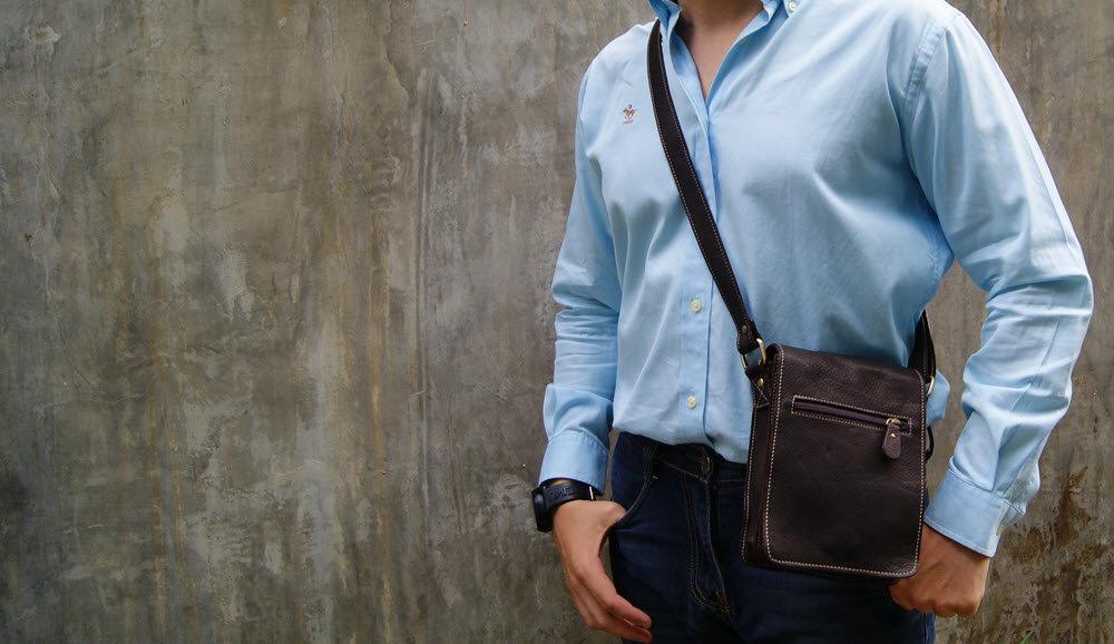 Кожаная сумка или сумка из экокожи - что выбрать для мужчины?, фото-1
