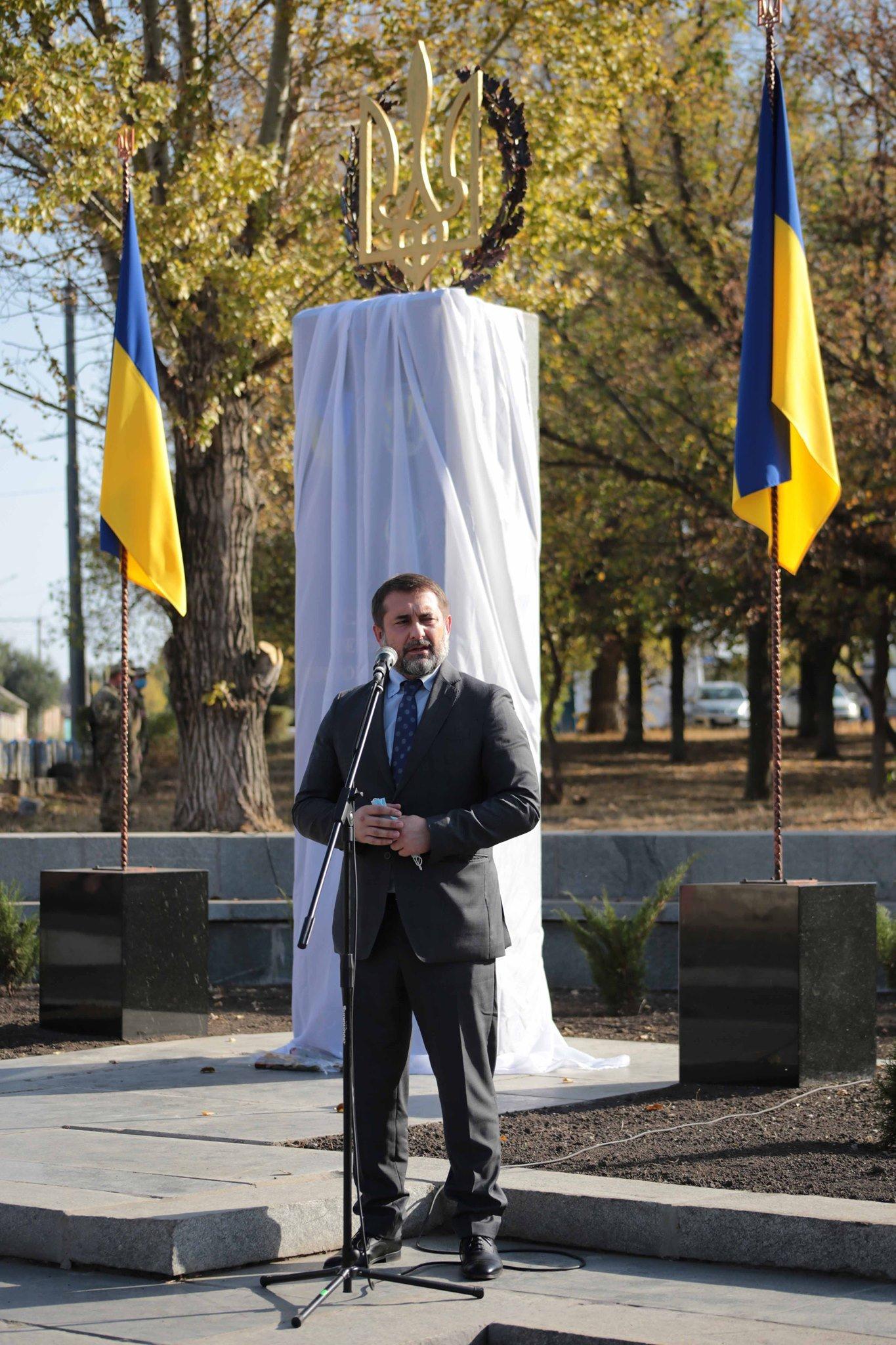 На Луганщине открыли памятник добровольцам АТО, фото-2