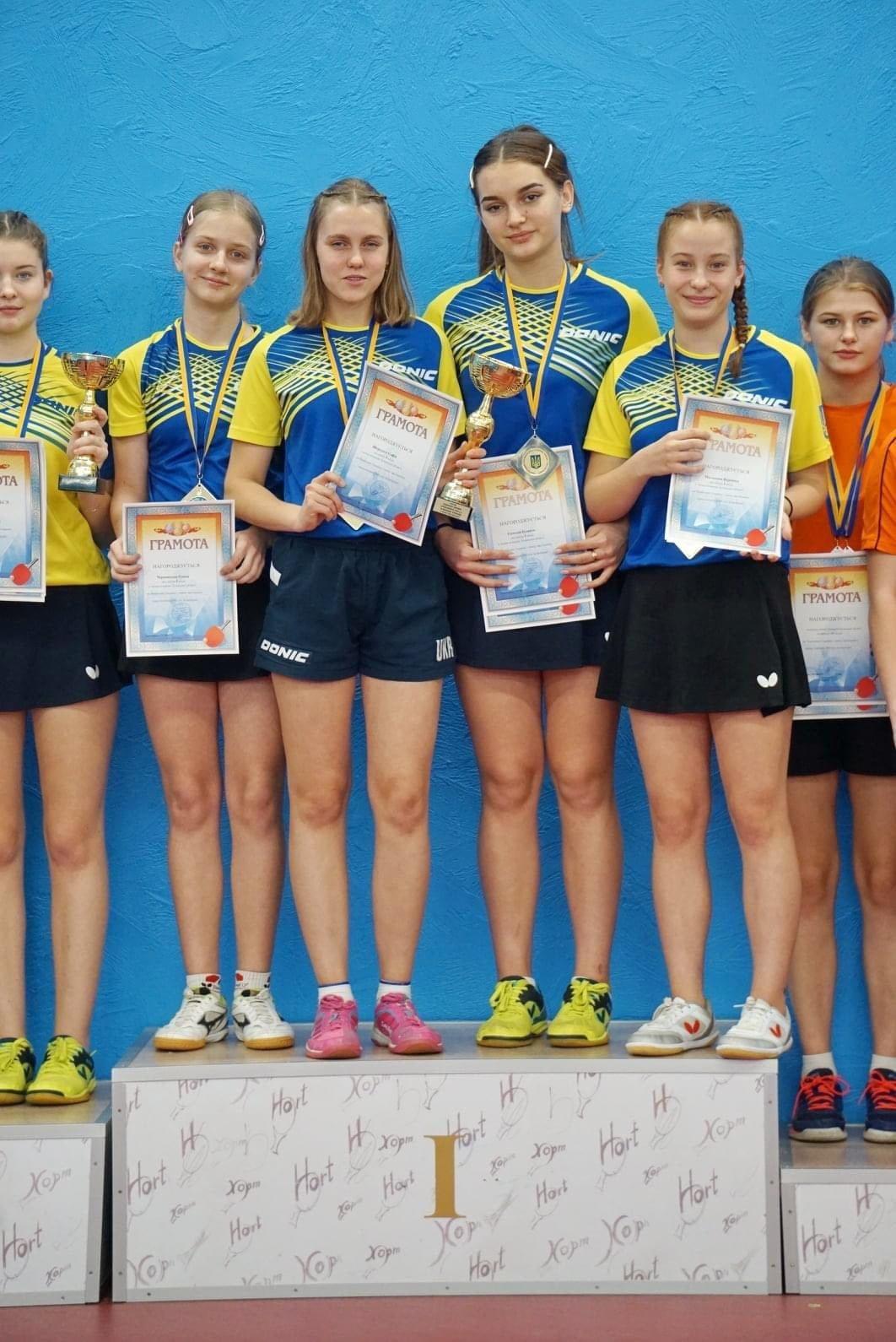 Спортсменки Северодонецка  в составе сборной области выиграли Чемпионат Украины по настольному теннису , фото-1