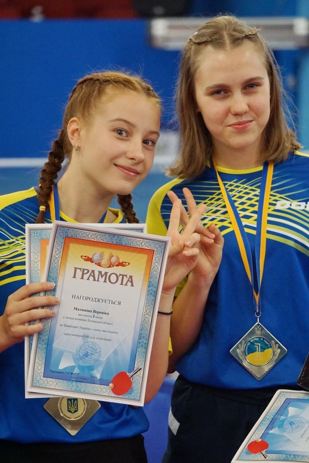Спортсменки Северодонецка  в составе сборной области выиграли Чемпионат Украины по настольному теннису , фото-2