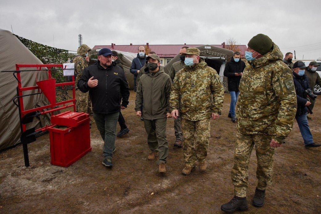 На Луганщине Президент Украины ознакомился с работой пограничников, фото-3